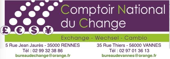 Le Comptoir National Du Change Bureau de change à Rennes
